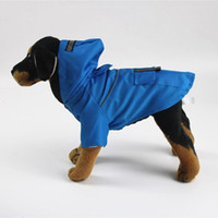 애완 동물 용품 방수 개가 비옷 반사 의류 반짝이는 후드 자켓 강아지 걷는 밤 안전 착용 코트
