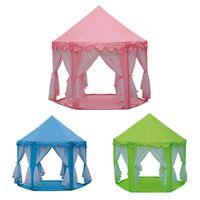 Дети играют в домик шестиугольник палатка дети марля комаров контроль принцесса палатки мальчик девушки крытый и открытый игрушечный подарок 58Ба J2