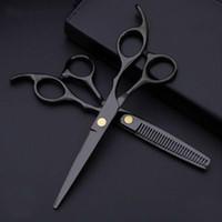 KOSTOWAY Profesyonel 440 Çelik 6 inç Siyah Saç Makas Set Kesme Kuaför Salonu Saç Kesimi İnceltme Makası Kuaförlük Makas
