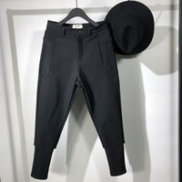 Owen Hombre Hombres Casual Lápiz Pantalones High Street Wear Ropa de Hombre Sweetpants Spring Cross Black Pants 201109