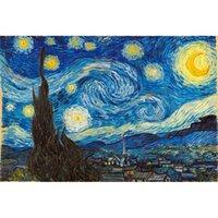 Puzzle de madera 1000 piezas de van Gogh pintura al óleo juguetes educativos para niños de alta dificultad (se pueden personalizar) A2
