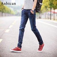 Anbican 2020 printemps mode slim jeans hommes pleine longueur poches droites jeans rétiendrant neuf mâle maigre taille 27-361