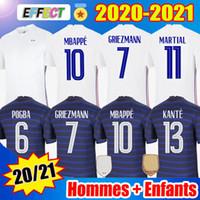 2020 France Soccer Jerseys MBAPPE GRIEZMANN POGBA Jersey 2021 KANTE Football Shirts maillot de foot Équipe nationale hommes + enfants Kit Femmes Soccer Jerseys