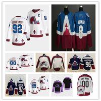 Colorado Avalanche 2021 Retro Retro Jersey Hockey Nathan Mackinnon Justin Barron Andre Burakovsky Gabriel Landeskog Peter Forsberg Makar
