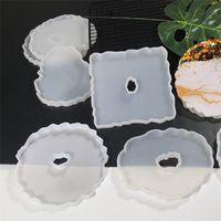 La più recente tazza pad dispensing stampo fai da te cristallo erogazione tazza tazza tavolino stampo in silicone decorazione tavola decorazione vassoio strumento artigianale 9034
