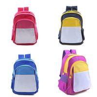 2021 DIY 열전달 배낭 아이 승화 빈 어깨 가방 화려한 크리스마스 학생 주니어의 학교 가방 totes 선물 E121409