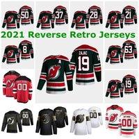 New Jersey Devils 2021 Ters Retro Formalar 45 Sami Vatanen Jersey 29 Mackenzie Blackwood 35 Cory Schneider Mens Womens Özel Dikişli