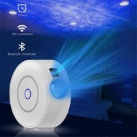 WiFi Galaxy Starry Sky Projector Bluetooth LED Night Light Color Starry Smart Star Проекционная лампа с приложенным голосом