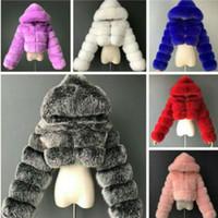 여성 재킷 디자이너 의류 솔리드 컬러 패션 짧은 코트 모방 여우 모피 긴 소매 바느질 겨울