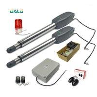 Controle de Acesso de Impressão digital 800lbs Elétrico Automatic Swing Gate Opener Motor para portão de aço (sensor, botão, lâmpada, teclado RFID, GSM Optio