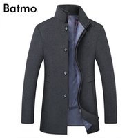 BATMO new arrival winter high quality wool thicked trench coat men,men's gray wool jackets ,plus-size M-6XL,1818 201126