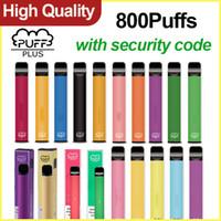 퍼프 바 플러스 일회용 vapes 펜 800puffs 3.2ml 사전 채워진 증기 휴대용 장치 포드 카트리지 고품질 퍼프 바 플러스