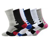 2 unids / par EEUU Professional Elite Basketball Socks Long Knee Athletic Sport Socks Compresión Térmico de invierno Socksfy7322