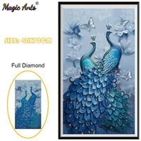 Peacock Pintura de diamante completo 5D DIY Decoración de boda Diamond Pintings Cross Stitch Decoración del hogar Bordado Mosaic1