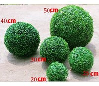 30CM 12INch Simulation of High-density Fabric Silk Green Artificial Grass Kissing Ball For Wedding Party Decorations supplies