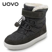 Uovo Kids 신발 새로운 도착 겨울 아이 스노우 부츠 패션 어린이 따뜻한 부츠 소년과 소녀 신발 플러시 안감 # 28-38 LJ201029