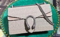 5a أعلى جودة النساء 400249 28 سنتيمتر ديونيسوس قماش حقيبة الكتف الصغيرة، نمر رئيس إغلاق، مع مربع + حقيبة الغبار، dhl شحن مجاني