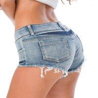 Damen Shorts Normov Womens Sommer Sexy Jeans Denim Super Mini Beute Short Club Party Dance Casual Skinny Damen S / M / L1