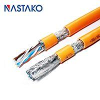 Computerkabel-Anschlüsse Cat6-Ethernet-Kabel doppelt abgeschirmt RJ45-Netzwerkkatze 6 SFTP 23awg LAN-Patch-Kabel-Router Laptop Kupfer Core1