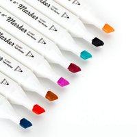 Marker kalem beyaz tahta sanat boyama suluboya 12 renkler çift başlı renkli pürüzsüz yaratıcı rahat ve kolay boyama sanat painti için