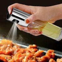 100ml oliva pulverizador de óleo alimentício de vidro frasco bomba de óleo Potenciômetro para churrasco cozinha cozinhar ferramenta frete grátis