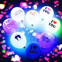Valentinstag leuchtend Ballon Paar transparent führte Bobo-Ball-Luftkugeln für Weihnachten Neujahr Brithday-Hochzeits-Party-Dekoration E121803