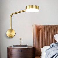 Duvar Lambası LED Işıkları Kol Döner Ev Modern Deco Yatak Odası Anahtarı Lambaları Livingroom İç Aydınlatma Başucu Aplik