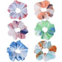 Bandes de poils teintées de cravate Femmes bébé filles Colorful Cheveux Cheveux Circle Bande à cheveux Cheveux fixes pour filles Cadeaux de fête Scrosqueuse Hot 232 K2