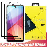 غطاء كامل الزجاج المقسى ل LG Escapa Plus Airsto 4 2019 K30 K40S K50S Q70 K41 K51 K61 K22 K41S K31 Stylo6 Q51 K40 حامي الشاشة مع P