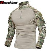 MagComsen Man MultiCam футболки армия камуфляж боевые тактические футболки военные с длинным рукавом Airsoft пейнтбол охотничий футбол 20103