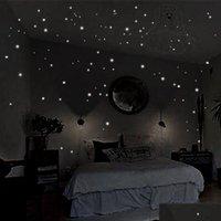 둥근 도트 어두운 별 스티커의 뜨거운 빛나는 밤에 별처럼 빛나는 비닐 벽 스티커 로마 bbyao bdesports