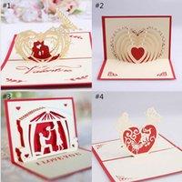 Carte de voeux de la Saint-Valentin 3D Valentines Carte de voeux Valentines Cadeaux Valentines Carte de voeux 15 * 10cm Fournitures de mariage PPD4302