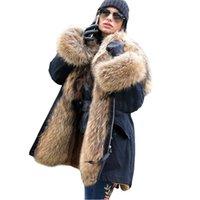 Levelache 2020 Long Parka Real Fur Coat Giacca Invernale Donne Naturale Real Fox Pelliccia Cappotti Cappotti Capispalla Streetwear Casual Oversize Nuovo LJ201203