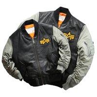 Rock Can Roll EE. UU. Fuerza Aérea Piloto Piloto Genuino Cabra Cuero Rider Jacket Family Padre Kid Ropa Padre hijo Vestido LJ201217