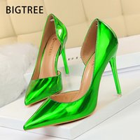 Chaussures Bigtree Sexy Femmes Pompes Patents Cuir High High Talons Femmes Chaussures Stiletto Femme Chasse Femelle Femmes Chaussures De Mariage Party Plus Taille 43 Y200702