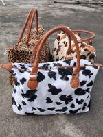 Leopard Vaca de fin de semana Bolso de fin de semana Capacidad de gran capacidad Total de asas Deportes Yoga Totes Almacenamiento Maternity Bag Bolsos de fin de semana 17 pulgadas DB239