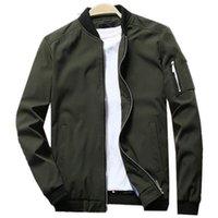 Erkek Ceketler Marka Ceket Erkekler Casual Bahar Sonbahar Slim Fit Softshell Uçuş Bombacı Erkek O-Boyun Hafif Mont 5XL Giysi