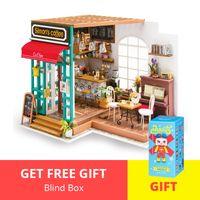 Robotime DIY Casa de muñecas en miniatura de madera Hecho a mano Artesanía Decoración Montaje Muñeca Modelo Modelo Kits de construcción Juguetes para niños LJ200909
