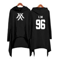 Gota de compras monsta x vestido moda mulheres com capuz camisola monsta x kpop roupas pullover y200610