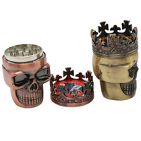 Novo estilo Herb Moedor King Skull Moedores Diferente Cor 3 Camadas Tabaco Moedores de Alta Qualidade Fumar Moedores