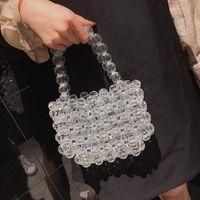 Личность мини-сумка 2021 летняя мода новых высококачественных прозрачных бусин женская дизайнерская сумка для плеча