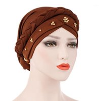 Шапочки / черепные колпачки женские тюремные мусульманские мокрыми цветной оплетка внутренний боннеты арабский головной шапка шапка исламская женщина India Hat1