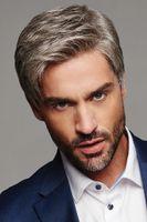 Männer synthetische Perücke Natürliche graue kurze haare mann cosplay frisur toupee gute geschenke für daddy ersatzperücken