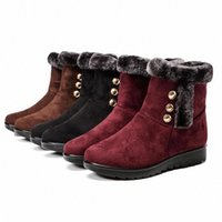 BLWBYL 2019 Winter Snow Boots Women Platform Fur Warm Ankle Boots Lady Cold Weather Flat Booties Big Size Women Shoes WBS824 #vS8i