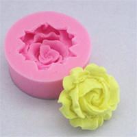 DIY 미니 로즈 몰드 퐁당 초콜릿 케이크 장식 금형 꽃 실리카 젤 주방 액세서리 도구 새로운 0 65FS G2