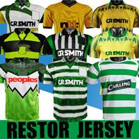 Retro 1980 1991 1998 1995 1997 1998 1999 Celtic Soccer Jerseys 95 96 97 99 Larsson Nakamura Keane 91 92 Celtic Yellow Sutton Camisas de futebol