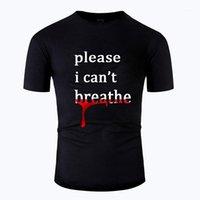 Herren T-Shirts 2021 George Floyd Ich kann nicht atmen Bedruckte Männer Frauen T-Shirt Schwarzer Leben Materie Casual Summer 100% Baumwolle Kurzarm WithicShi
