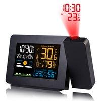 Fanju Digital Alarm Stage Meather Station Светодиодная температура Влажность Прогноз погоды Прогнозные столовые часы с прогнозированием временем LJ200827
