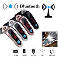 S7 Auto Bluetooth FM Sender FM Adapter mit USB-Autoladegerät Audioplayer MP3 Handfree Support TF-Karten