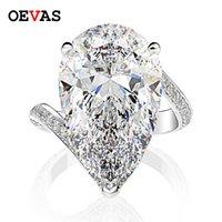 Luxe 925 Sterling Silver 13 * 22mm goutte d'eau coupée de glace haute baguette de diamant de carbone pour femmes cadeau de bijoux de fiançailles de mariage